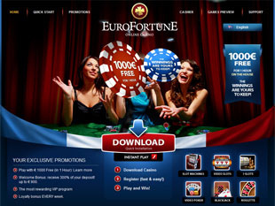 EuroFortune Casino Home