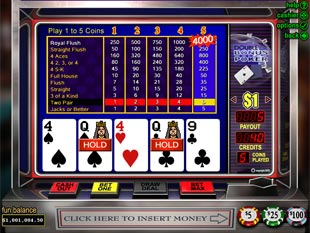 Double Bonus Video Poker