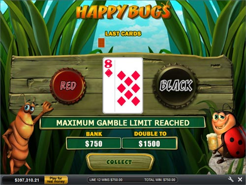 free Happy Bugs Gamble Feature Prize