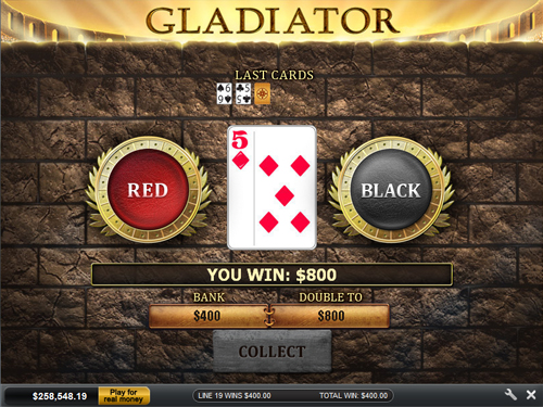free Gladiator gamble feature