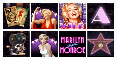 free Marilyn Monroe slot game symbols