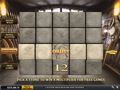 free Gladiator bonus game