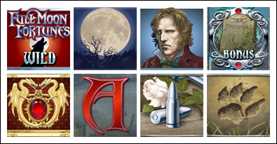 free Full Moon Fortunes slot game symbols