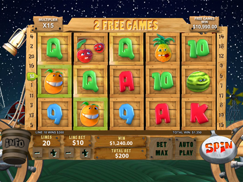 free Funky Fruits Farm free spins feature