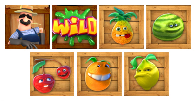 free Funky Fruits Farm slot game symbols