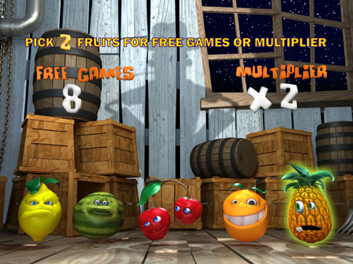 free Funky Fruits Farm bonus game start