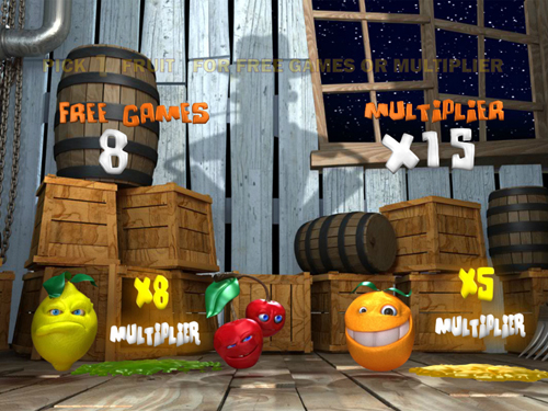 free Funky Fruits Farm bonus game win