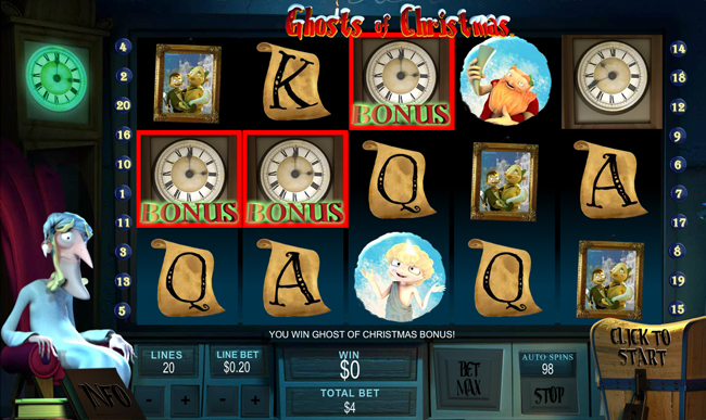 Ghosts of Christmas slot game online review