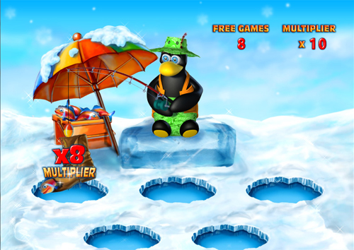 free Penguin Vacation free spins feature prize