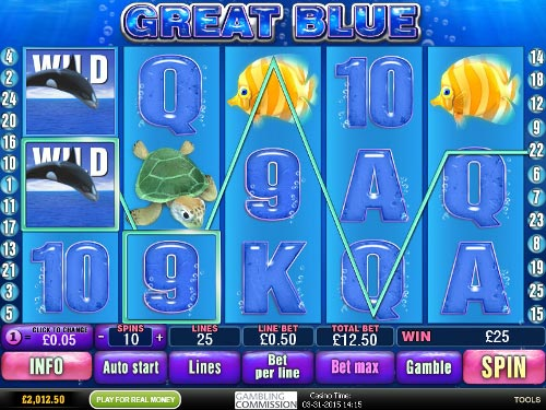 free Great Blue free spins wild symbol