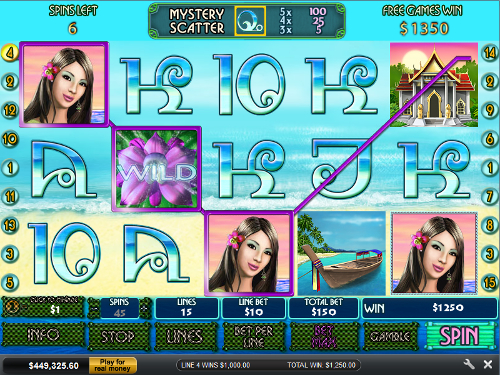 free Thai Paradise free spins big award with wild