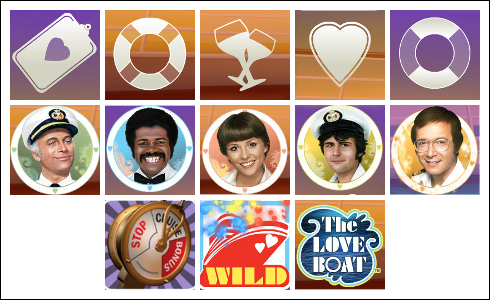 free The Love Boat slot game symbols