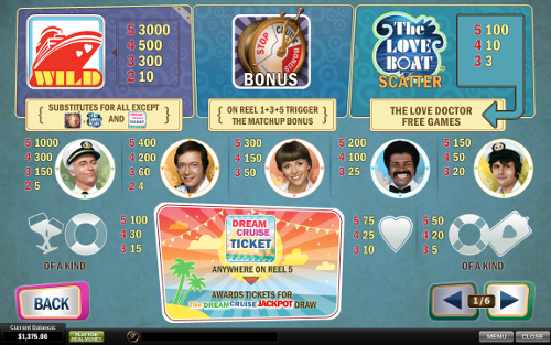 free The Love Boat slot payout