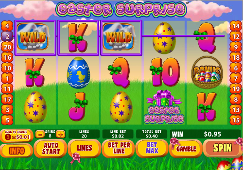 free Easter Surprise free spins wild symbol