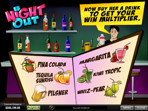 free A Night Out free spins feature