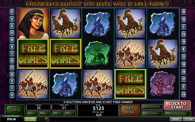 The Pyramid of Ramesses slot game online review