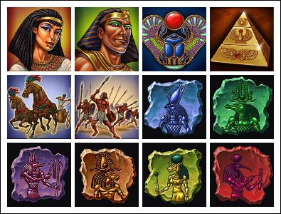 free The Pyramid of Ramesses slot game symbols