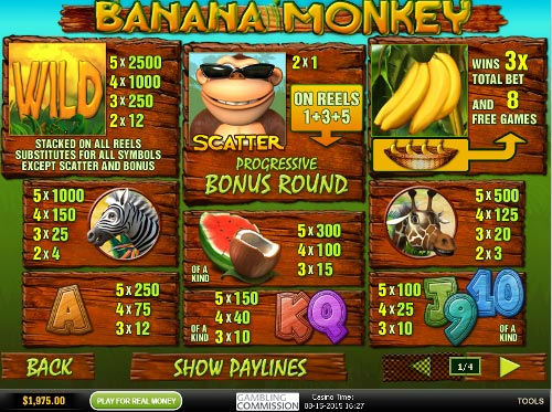 free Banana Monkey slot payout