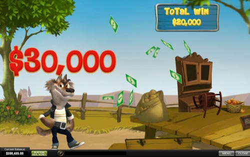 free Piggies and the Wolf bonus feature