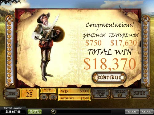 free The Riches of Don Quixote free spins prize