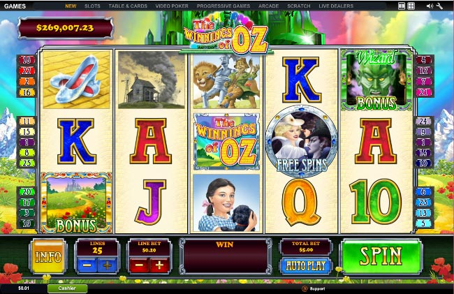 The Winnings of Oz slot game online review