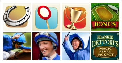 free Frankie Dettori's Magic Seven Jackpot slot game symbols