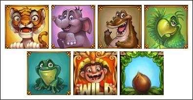 simbol permainan slot Jungle Trouble gratis