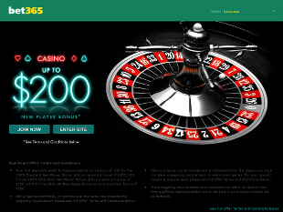 Bet365 Casino Home