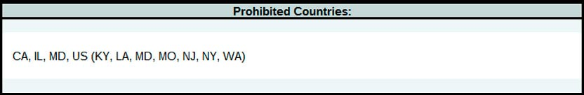 list of prohibited countries