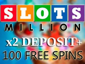 slots million casino welcome deposits and free spins