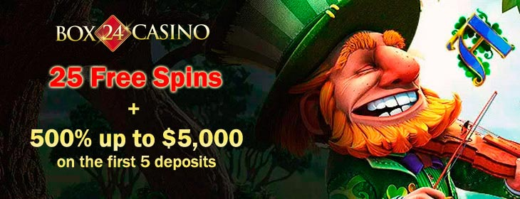 box24 casino welcome package and free spins