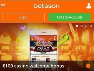 Betsson Mobile Casino Home