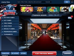 Liberty Slots Casino Lobby