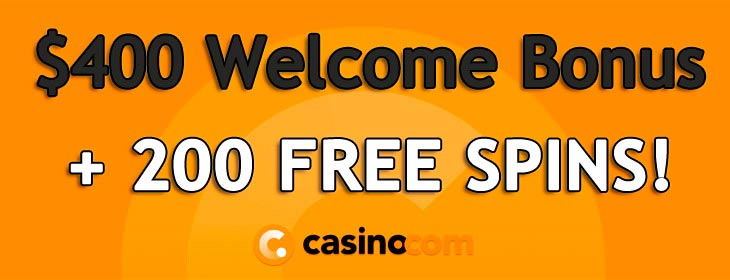 casino.com welcome pack free spins bonus