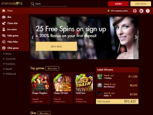 Spartan Slots Casino Home
