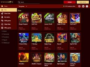 Spartan Slots Casino Lobby