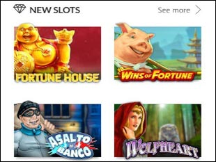Slots Million Mobile Casino Lobby