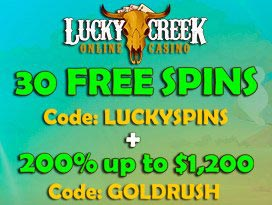 lucky creek casino free no deposit free spins welcome pack