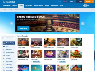 NordicBet Casino Home