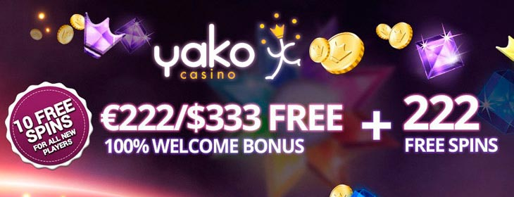 yako casino welcome free spins bonus
