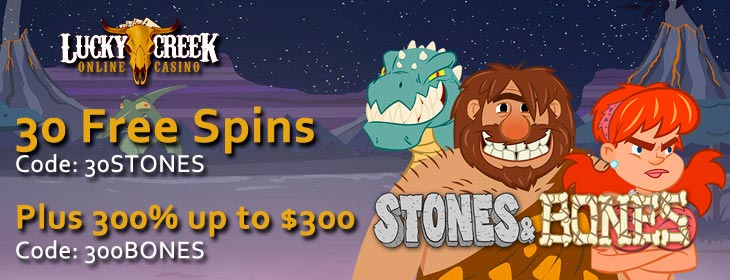 lucky creek casino stones bones free spins bonus