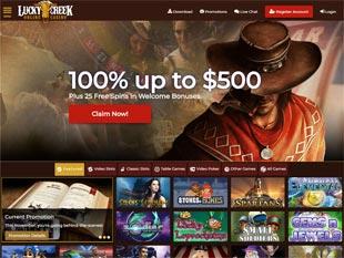 Lucky Creek Casino Home