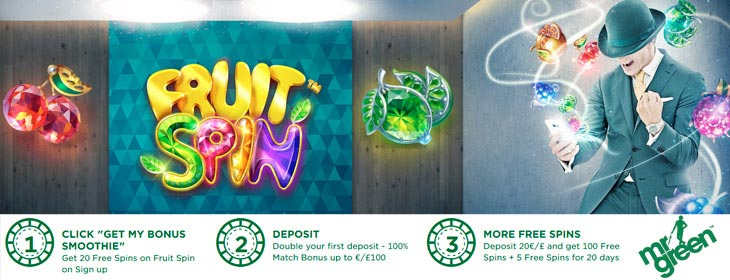 mr green casino 20 free spins sign up bonus