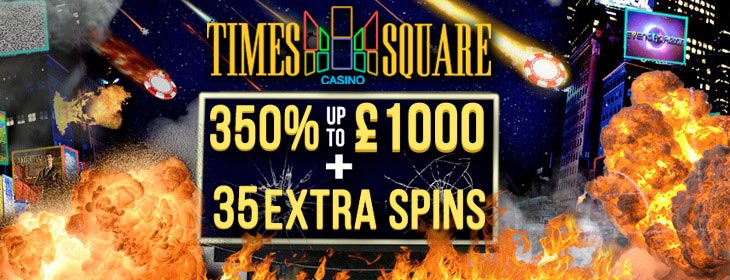 Times Square Casino welcome extra spins exclusive bonus