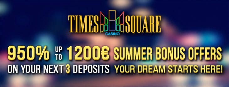 Times Square Casino welcome bonus pack