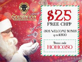 golden lion casino free welcome bonus pack