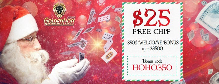 golden lion casino free chip and welcome match bonus