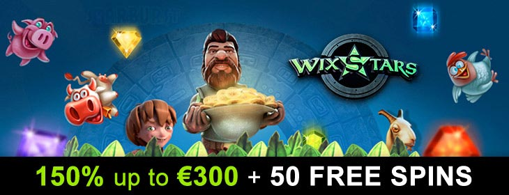 wixstars casino exclusive free spins bonus
