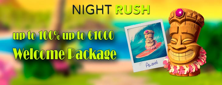 nightrush casino €1000 welcome bonus