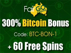 FairGo Casino welcome bitcoin and free spins bonus package